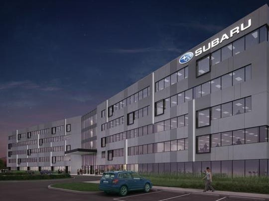 Subaru of America's current site plans for its Camden headquarters show 1,031 parking spaces for 600 employees.