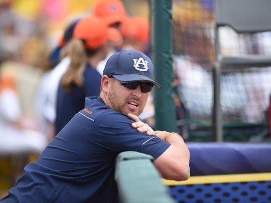 Auburn softball pitching coach Corey Myers has built this 2016 pitching staff with depth of five quality arms.