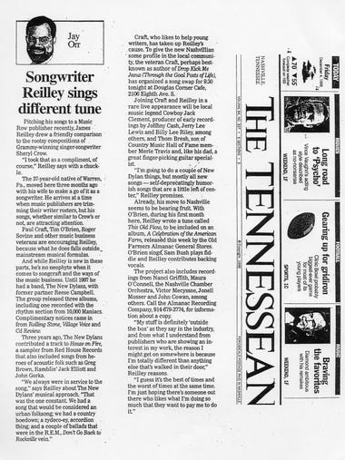 The Tennessean wrote a story on songwriter Jim Reilley