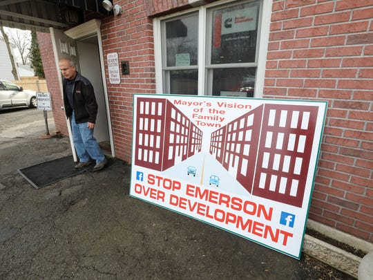 The outside of Academy Electric, where Emerson business owners in January discussed their opposition to a redevelopment plan proposed by the governing body.