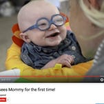Baby Leo smiles as he sees his mom clearly for the first time. In this video, the four-month-old is fitted for glasses to correct his poor vision that is caused by Oculocutaneous Albinism (OCA).