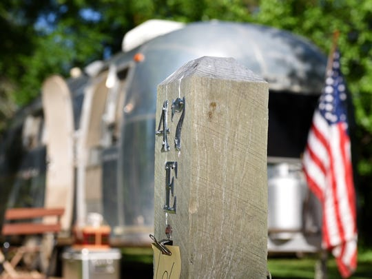Carmen Dyar's airstream at Big Sioux Recreation Area in Brandon, S.D., Wednesday, June 15, 2016.