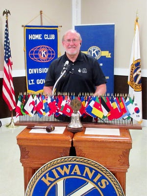 Dr. Paul Silcox speaks to the Fremont Kiwanis during a luncheon July 27.