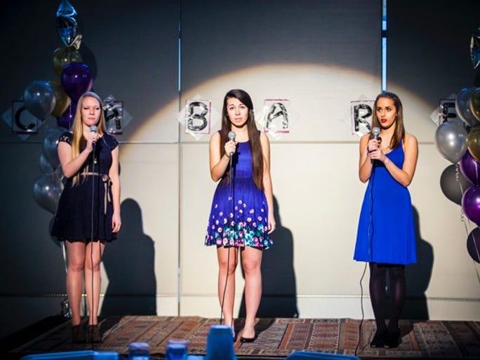 Amy Kohmescher, Jamie Ross and Elizabeth Rosenberg at Sycamore High School's Cabaret.