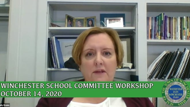 Winchester Superintendent Judy Evans address the School Committee during its Oct. 14 meeting regarding halting MCAS testing for the 2020-21 school year.