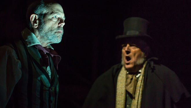 """Joe Spano stars as Jacob Marley and Peter Van Norden stars as Ebenezer Scrooge in the Rubicon Theatre Company's production of """"Charles Dickens' A Christmas Carol"""" on stage through Dec. 23 in Ventura."""