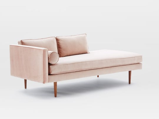 Monroe Mid-Century Chaise Lounger from West Elm.