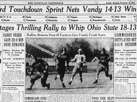 The Tennessean, Sports page, Nov. 3, 1935
