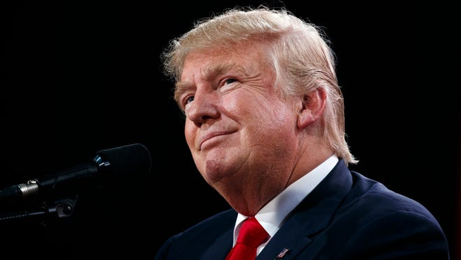 Republican presidential candidate Donald Trump speaks during a campaign rally, Monday, Oct. 24, 2016, in Tampa, Fla. (AP Photo/ Evan Vucci)