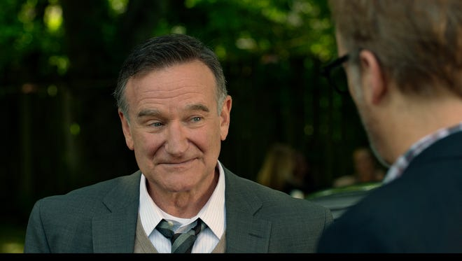 Robin Williams, with Bob Odenkirk, in a scene from 'Boulevard,' Williams' last drama.