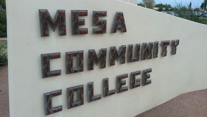 Mesa Community College at the corner of Dobson and Southern in Mesa, Arizona