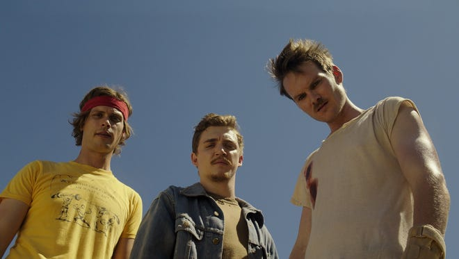 """Matthew Gray Gubler (from left), Kyle Gallner and Adam Nee appear in a scene from """"Band of Robbers."""""""
