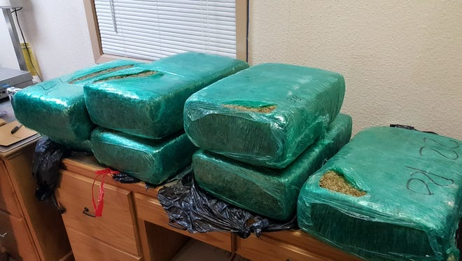 200 pounds seized by Louisiana State Police Wednesday morning.