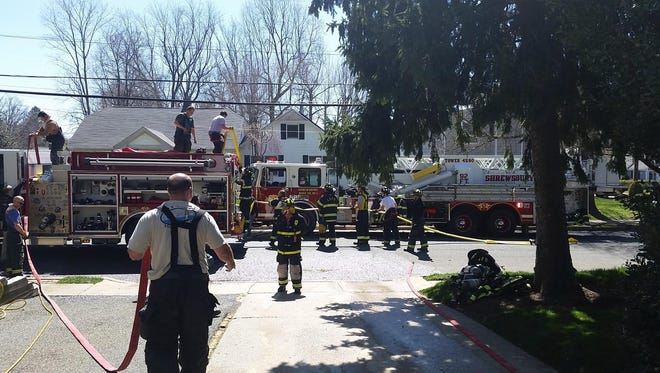 Authorities extinguished a fire on White Street Wednesday.