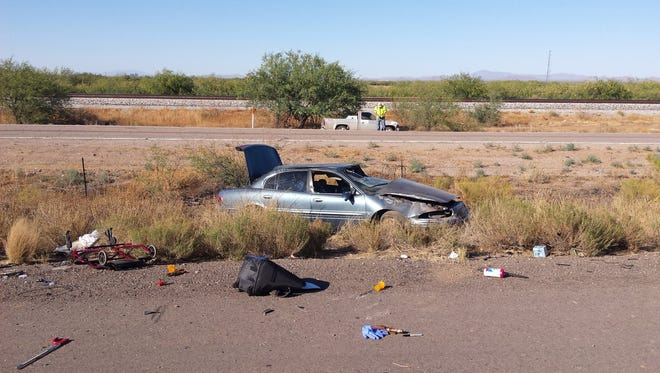 A 78-year-old woman was killed in a rollover crash on Interstate 10 near Picacho Peak on Tuesday, June 14, 2016.