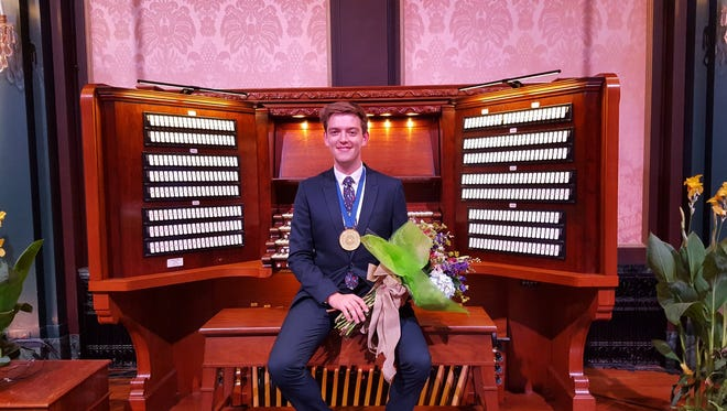 Joshua Stafford placed first in the second International Organ Competition at Longwood Gardens.