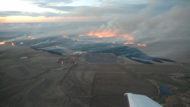 Aerial photos of the Cottonwood Fire east of Wall on Sunday, Oct. 17, 2016.