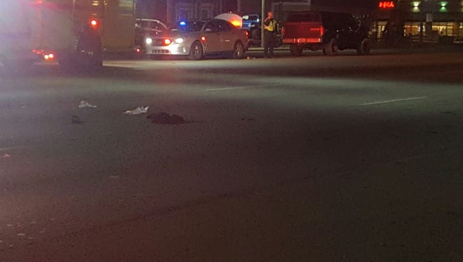 Police responded Monday night to reports of a pedestrian accident on Dixie Highway.