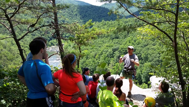 Lester Zook of Wild Guyde Adventures discusses the importance of making good decisions and taking appropriate safety measures while adventuring in the great outdoors at Goshen, summer 2016.