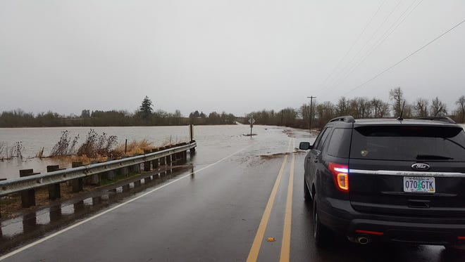 High water has closed several roads in rural Marion County.