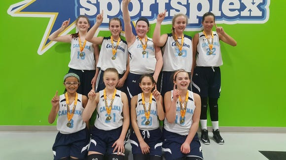 The Team Carolinas 12 and under girls basketball team won the TNT Rim Challenge tournament over the weekend in Kingsport, Tenn.
