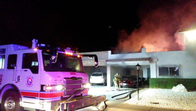 An elderly woman is in critical condition after a fire broke out in her Scottsdale home, killing her dog.