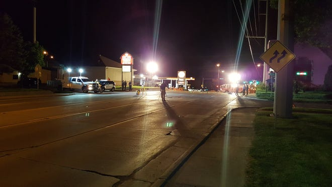 Two people were injured in an overnight hit-and-run near 9th and Cliff  Saturday night.