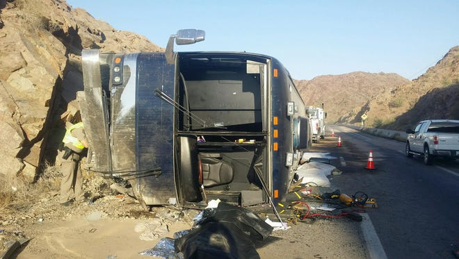 The driver of a tour bus was killed on July 3, 2017, when the vehicle's left front tire failed on Interstate 10 near Quartzsite,  Arizona, about 10 miles from the California state line.