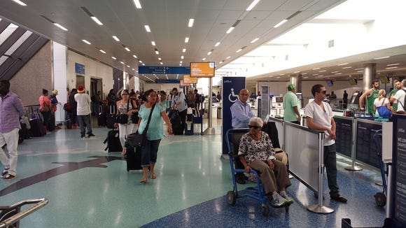This photo, shared by the Fort Lauderdale airport,