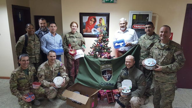 U.S. troops abroad are happy to have received home-baked goodies for Christmas 2017 in a care package sent by Operation Yellow Ribbon of South Jersey.