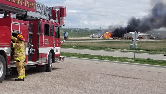 A fire at Ultramax Ammunition in Box Elder on May 8, 2018.