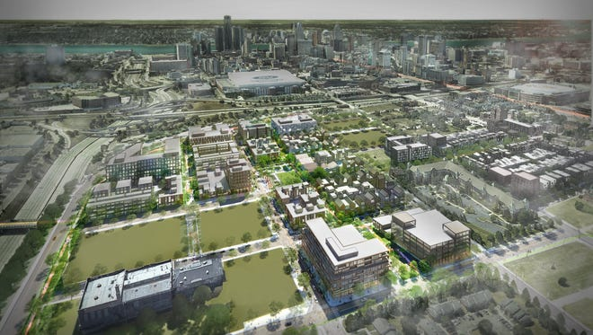 "The Fredrick Douglass Development Project involves developing roughly 22 vacant acres near Brush Park's southern end ""into several mixed-income residential projects providing over 800 units, along with the construction of various other commercial, retail and public space components."""