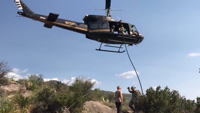 U.S. Border Patrol agents rescued an elderly man Monday in the Indian Wells Canyon area, which is east of Alamogordo, after he was reported missing