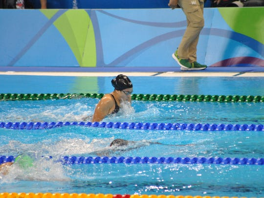 Pilar Shimizu swims a personal best for 2016 at the Rio Olympics