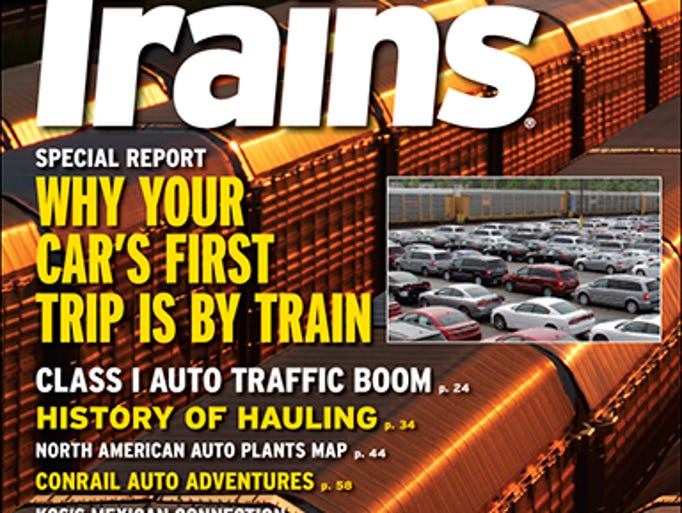 The cover story in Trains magazine in November is on transporting cars by rail
