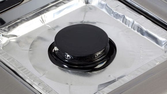 Aluminum stovetop burner covers