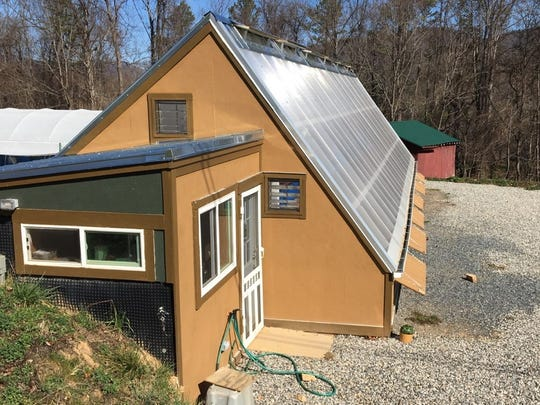 Vents along the sides, front knee wall and roof peak ensure adequate air circulation so that the greenhouse doesn't overheat on unseasonably warm days.