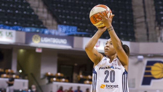 FILE – Briann January led the Fever with 20 points in Friday night's win over Chicago.