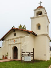 Mission Santa Cruz in California.