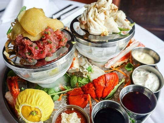 The chilled seafood and shellfish platter.