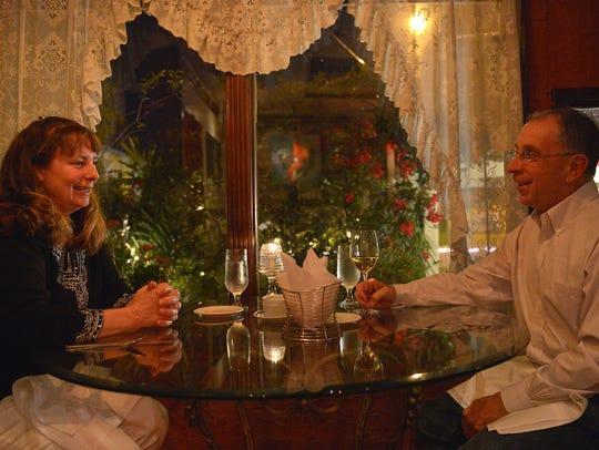 Eileen Kramer (left) and Ron Talarico enjoy a quiet