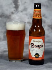 Booyah Apricot Saison got its name from the classic