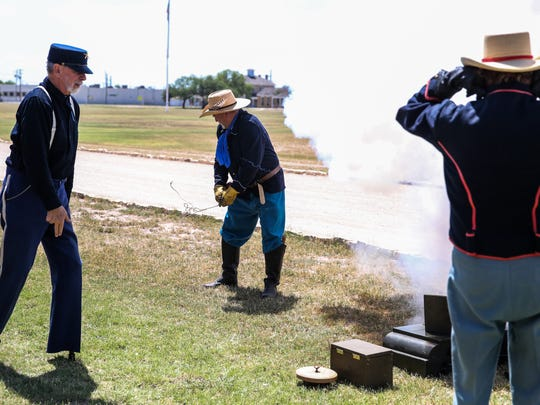 Volunteers will fire off the cannons hourly to salute our country on Fourth of July.