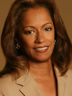 Carmen Harlan  of WDIV-TV photographed May 3,  2006, in Detroit.