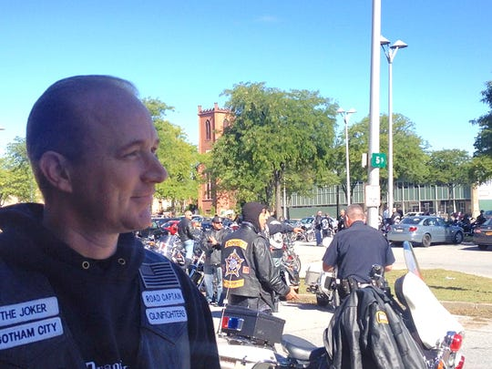 Sgt. Joseph Beck, state Supreme Court Officers Association, helps organize the Detective John M. Falcone Memorial Ride.