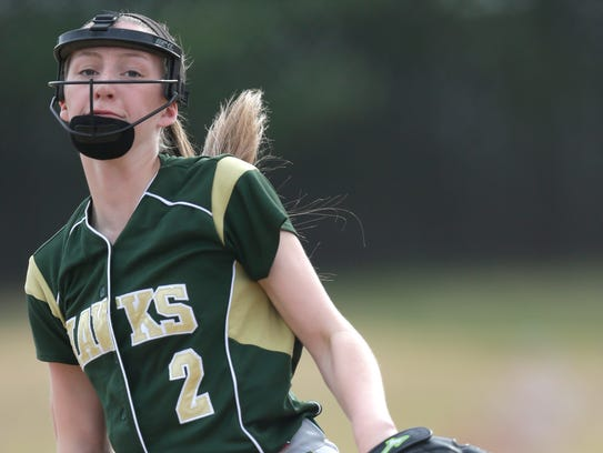 Greenfield pitcher Alyssa Vilkoski is the team ace