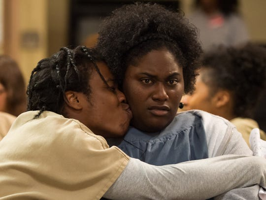 "Uzo Aduba, left, and Danielle Brooks in  ""Orange is"