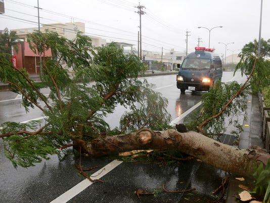 EPA JAPAN WEATHER TYPHOON GONI WEA WEATHER WARNINGS JPN OK