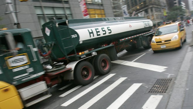 A Hess fuel truck in New York City.