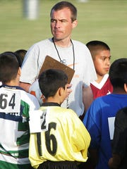 This 2006 file photo shows Tim Richey organizer of the inner city Think Detroit PAL soccer league starting with 15 kids in 1996 and grown the league to more than 1000 kids,